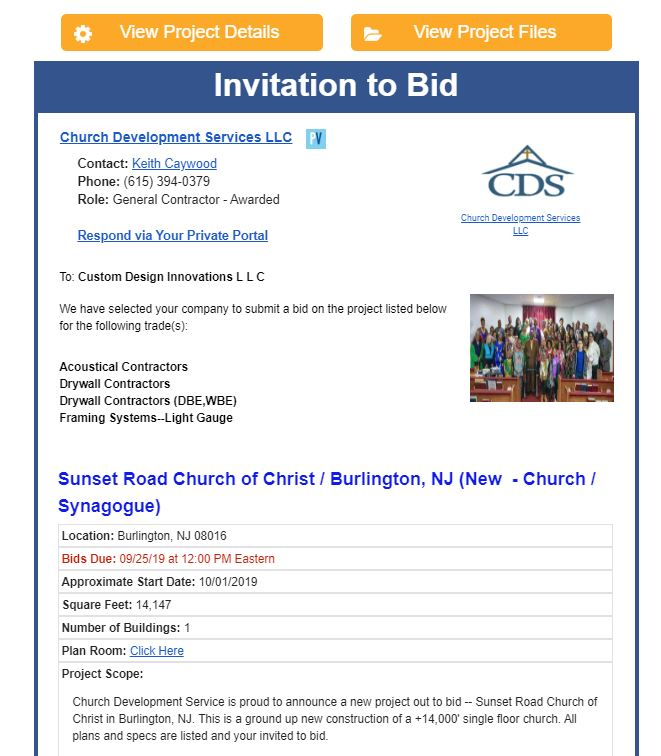 invitation to bid project