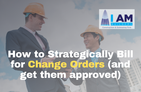 bill for change orders and get approved