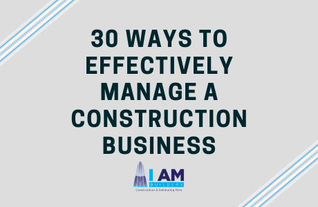 manage a construction business
