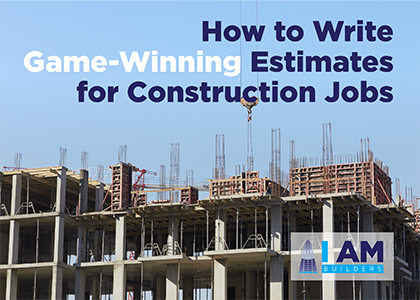 how to write estimates