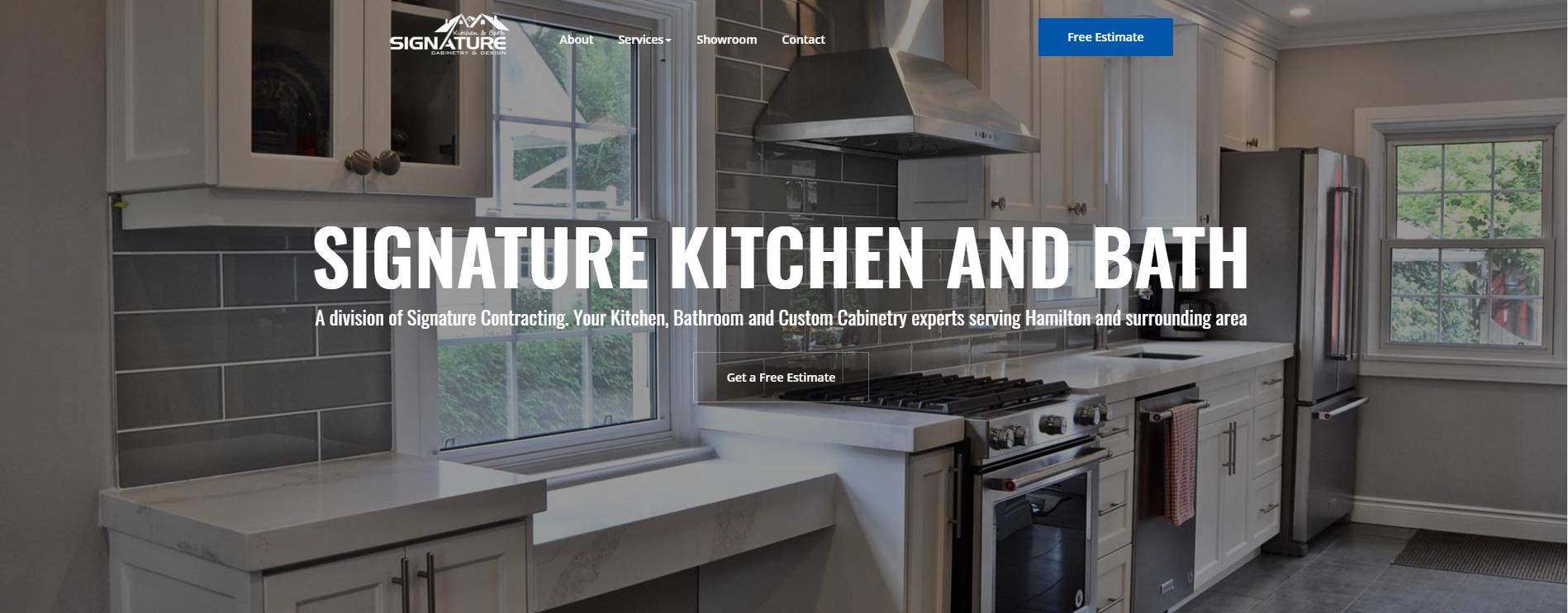 contractor website example