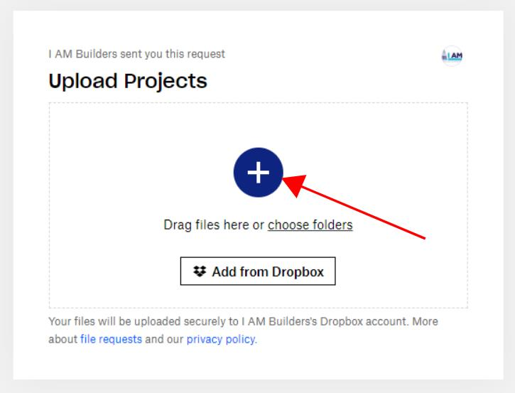 upload projects to I am builders
